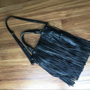 H&M Fringed Bag Boho Black